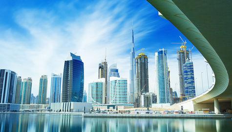 Skyline i Dubai.