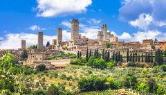 Den medeltida staden San Gimignano.