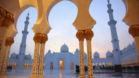 Shaik Zayed Grand Mosque i Abu Dhabi.