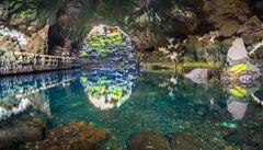 Grotta i Jameos del Agua på Lanzarote.