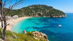 Cala de Sant Vicent på nordöstra Ibiza.