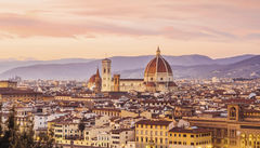 Utsikt mot Santa Maria del Fiore, Florens.