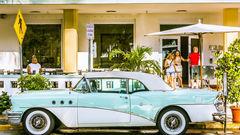 Typisk retro-bil i Miami.