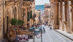 Gamla stadsdelen Noto på Sicilien.