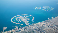 Utsikten över The Palm från luften.