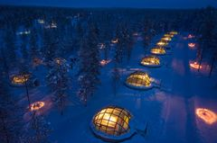 Kakslauttanen Arctic Resort, Finland.