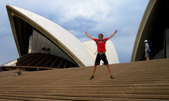 Klassisk turistattraktion i Sydney.