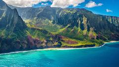 Napali-kusten på Kauai är nästan overkligt vacker.