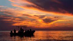 Solnedgång över Cozumel.