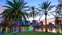 Skyline vid Eola Lake, Orlando